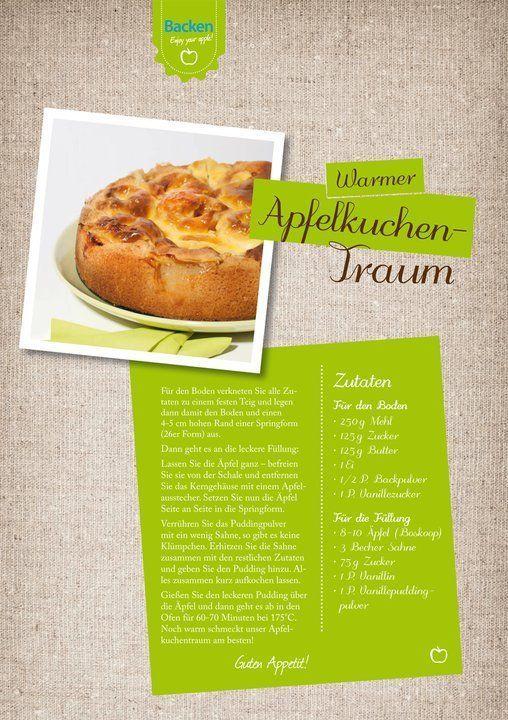 warmer Vanille-Apfel-Kuchen