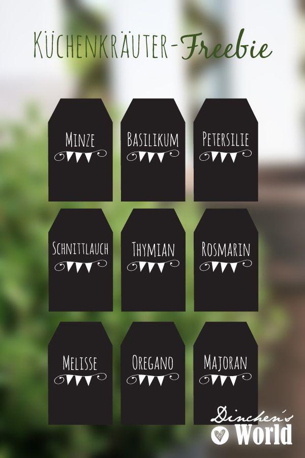 Etiketten für Küchenkräuter