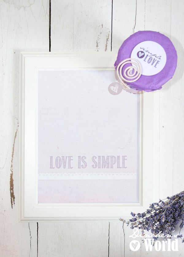 Print LOVE IS SIMPLE by Salt & Paper