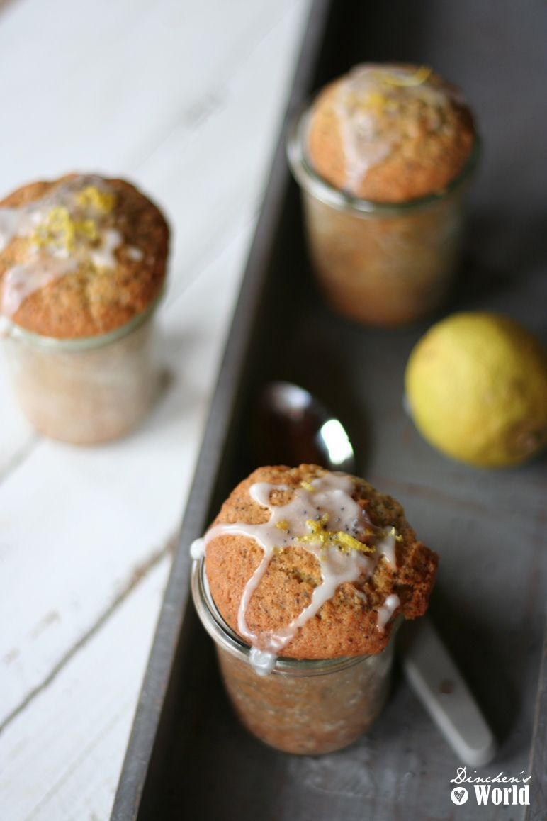 Dinchen´s World Foodblog Rezept für Mohn-Zitronen-Kuchen