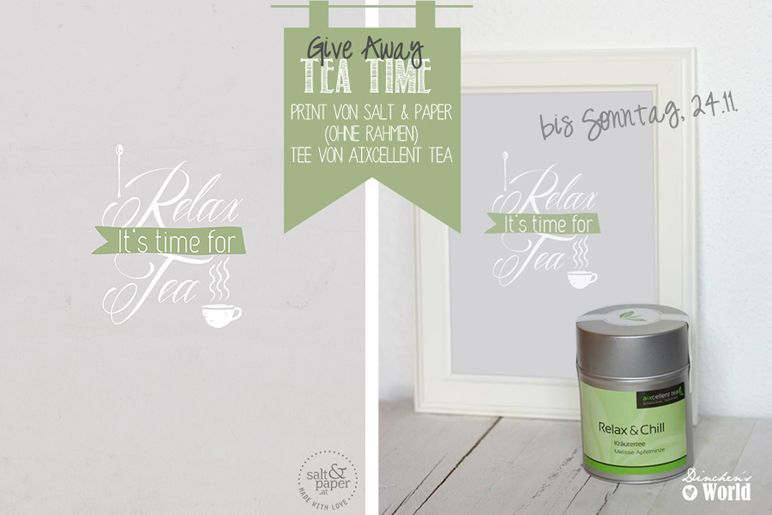 tea time give away by dinchensworld.de