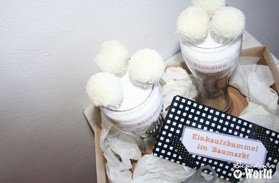 kokos-cake-pops im Weizenbierglas