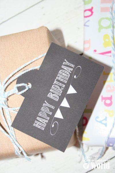 DIY Geschenkanhänger – Pimp your Geschenkverpackung