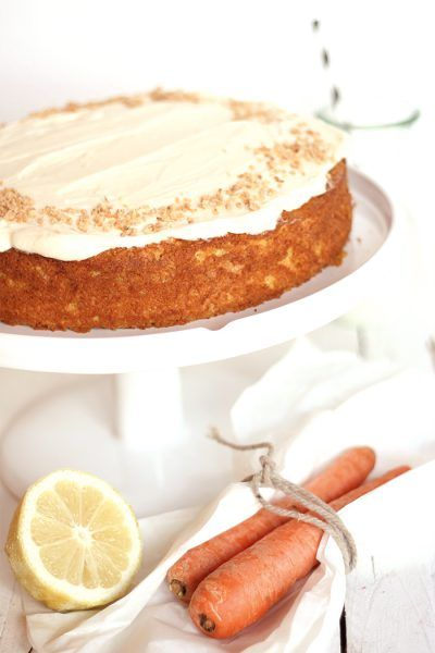 Möhrenkuchen mit Zitrus-Mascarpone-Topping