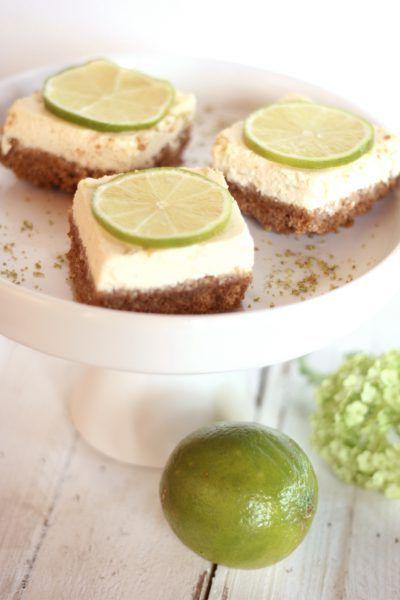 Limetten-Cheesecake-Schnitten