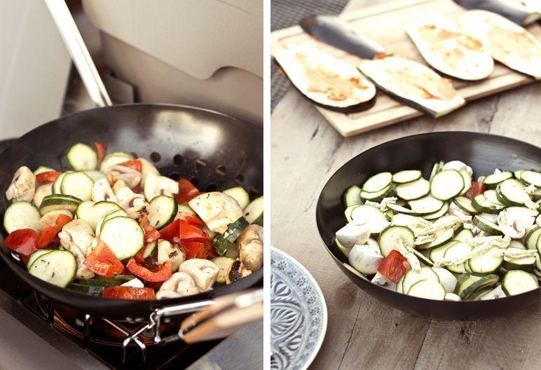 Gemüsepfanne mit Kräutercreme I dinchensworld.de