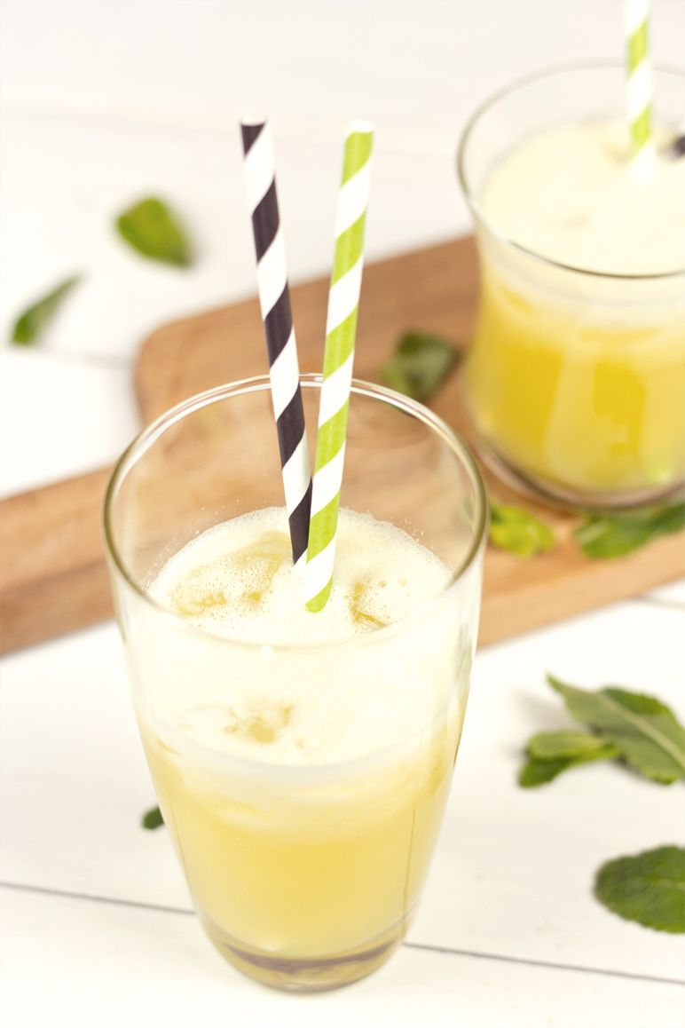 AnanasMelonenSaft mit Minze  Dinchen´s food & feelings ~ Entsafter Banane