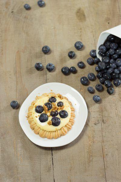 Vanille-Tartelettes mit Blaubeeren