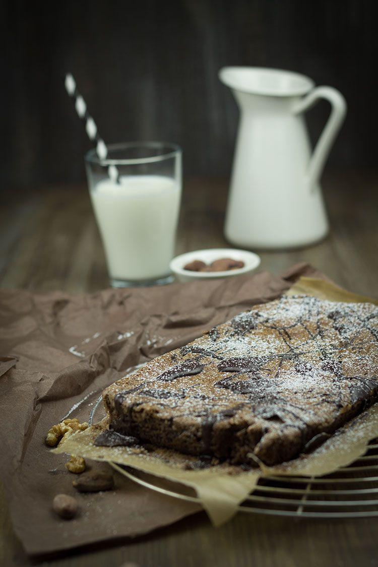 Rezept für Walnuss-Brownies mit rohem Kakao, Vanillemark und Meersalz