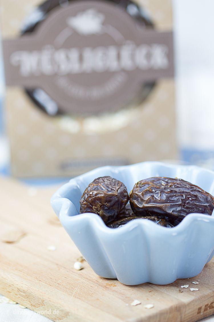 Rezept für Müsli-Riegel mit Bananen, Datteln und Mandelmus