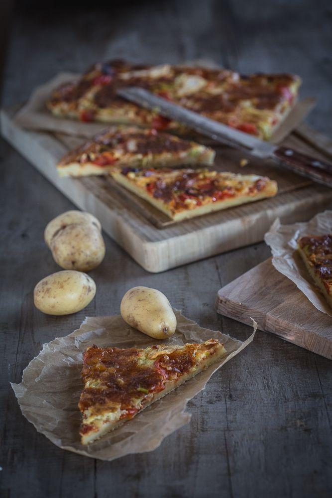 Rezept für Kartoffelpizza von foodandfeelings.de