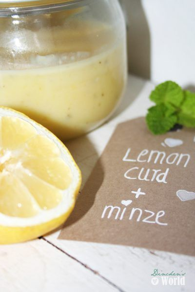 Lemon-curd mit Minze