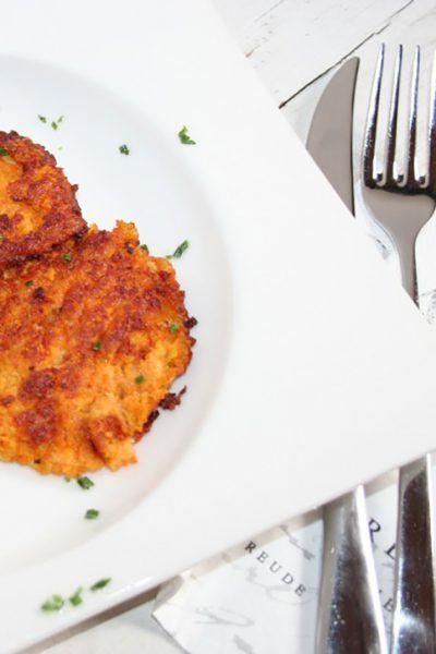 Kartoffel-Möhrenpuffer mit Sourcreme