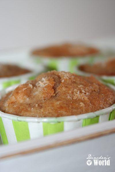 Apfelmuffins mit Zimtpulver