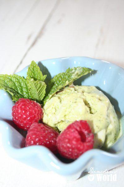 Eiscreme Schoko-Kokos und Pistazien-Minze