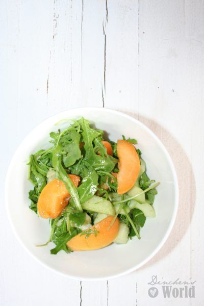 Aprikosen-Salat mit Galia-Melone