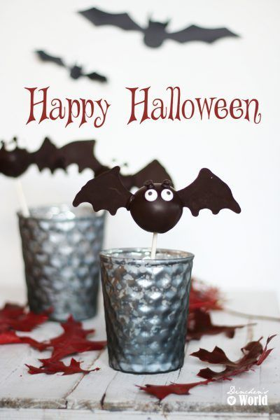 Halloween-Sweeties – Fledermaus-Cakepops