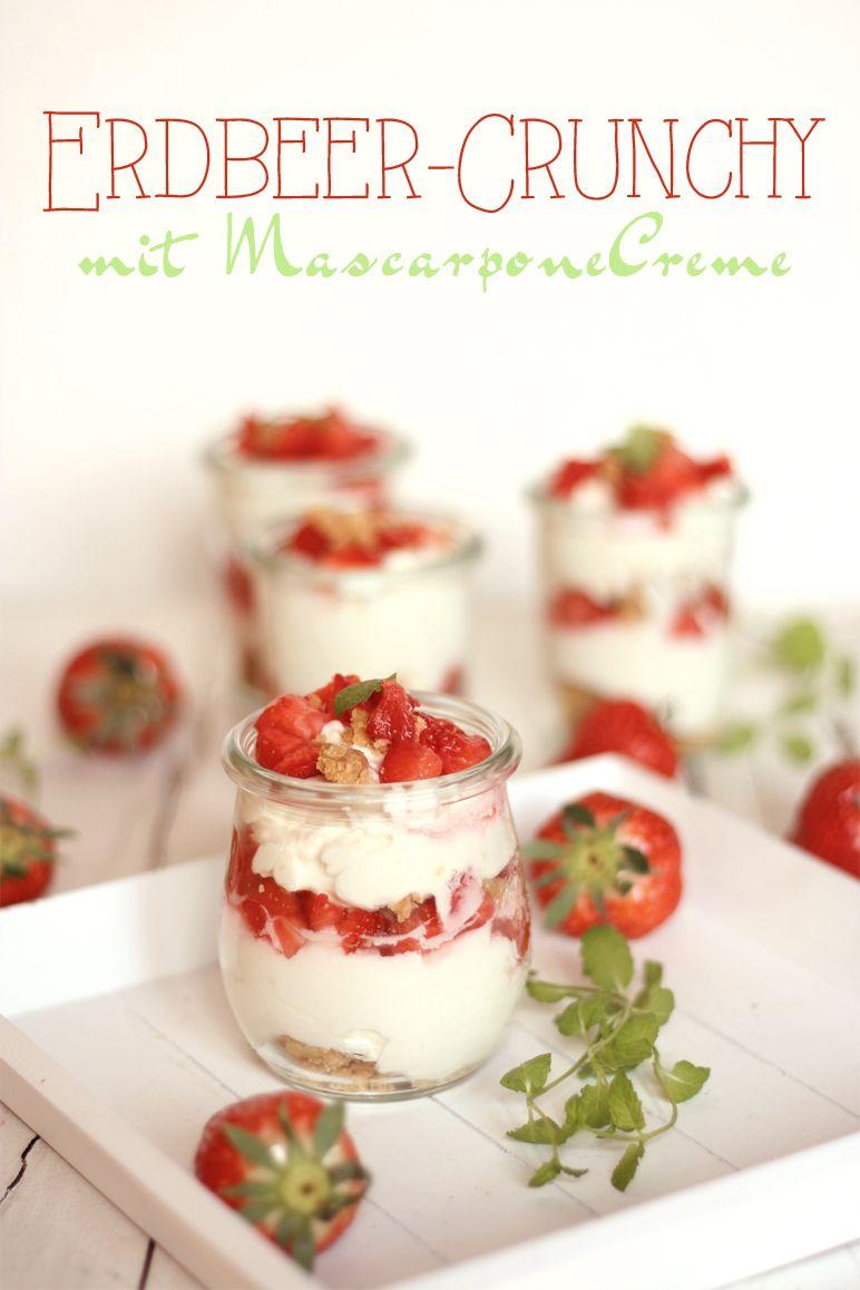 Rezept Erdbeer-Dessert mit Crunch by dinchensworld.de