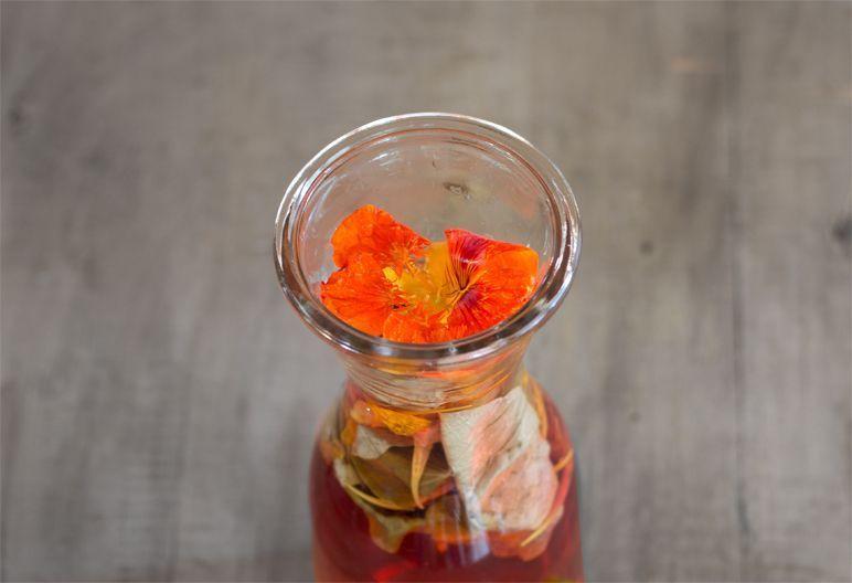 Rezept Essig mit Kapuzinerkresse I Foodblog I Dinchensworld.de