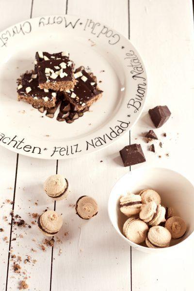 Lebkuchen mit weißer Schokolade on top