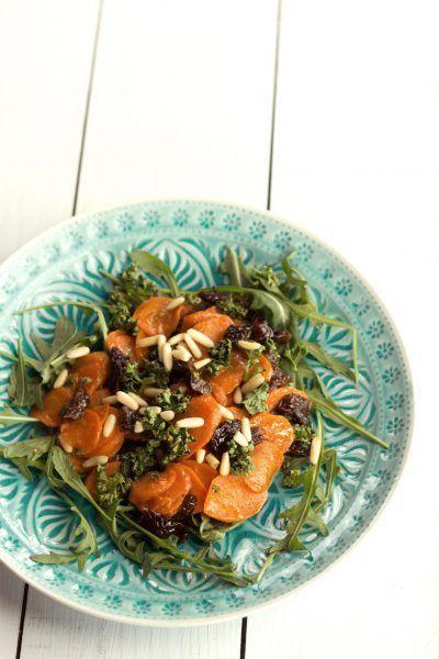Lauwarmer Möhren-Salat mit Pflaumen