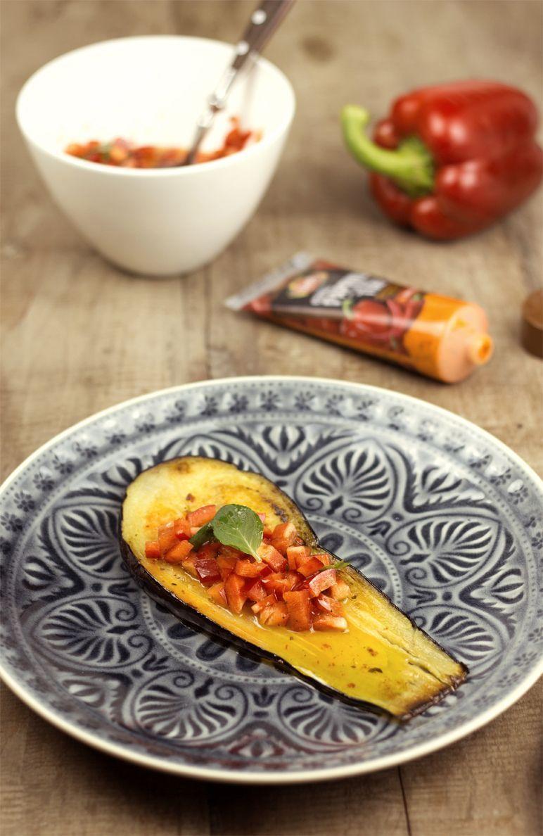 Rezept Auberginen mit Paprika-Paste I Foodblog www.foodandfeelings.de