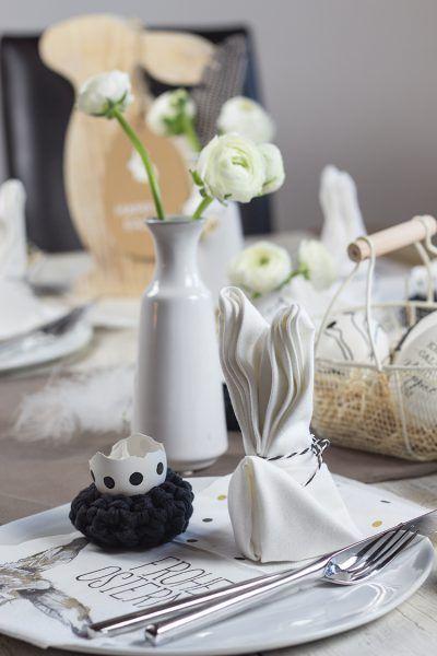Oster-Special: Die Hasen-Serviette und der gedeckte Tisch