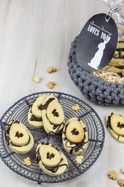 Osterhasen-Doppel-Kekse
