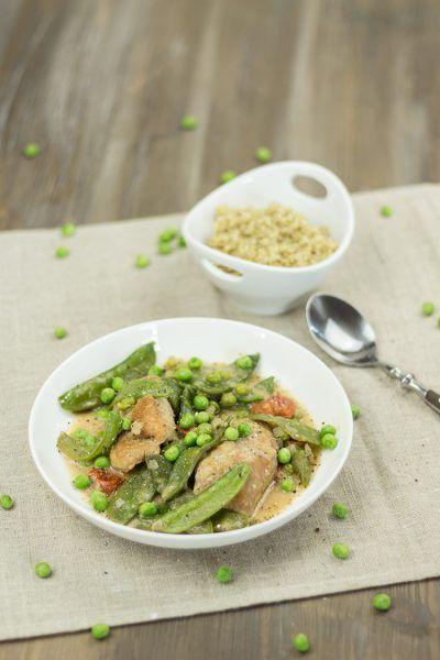 Putenfilet mit Frühlingsgemüse und Quinoa