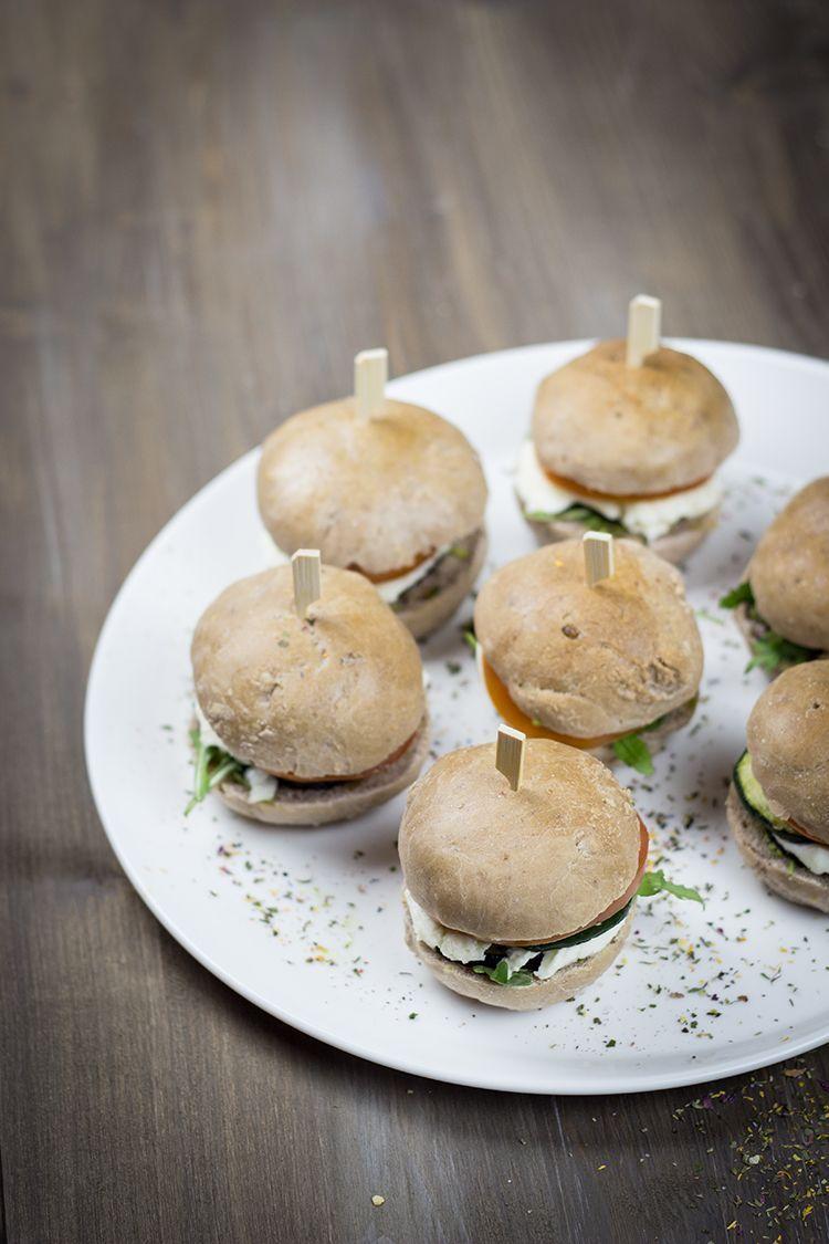 Rezept für Mini-Veggie-Burger