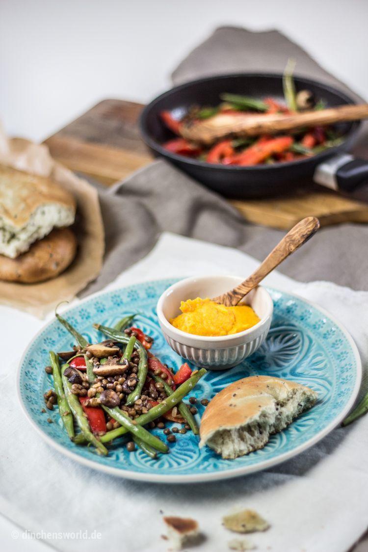 Hello Fresh Rezept für Tandoori-Süßkartoffel-Püree mit Linsengemüse im Thermomix