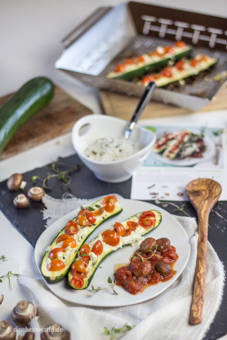 Hello Fresh Rezept für mediterrane Zucchini-Schiffchen im Thermomix