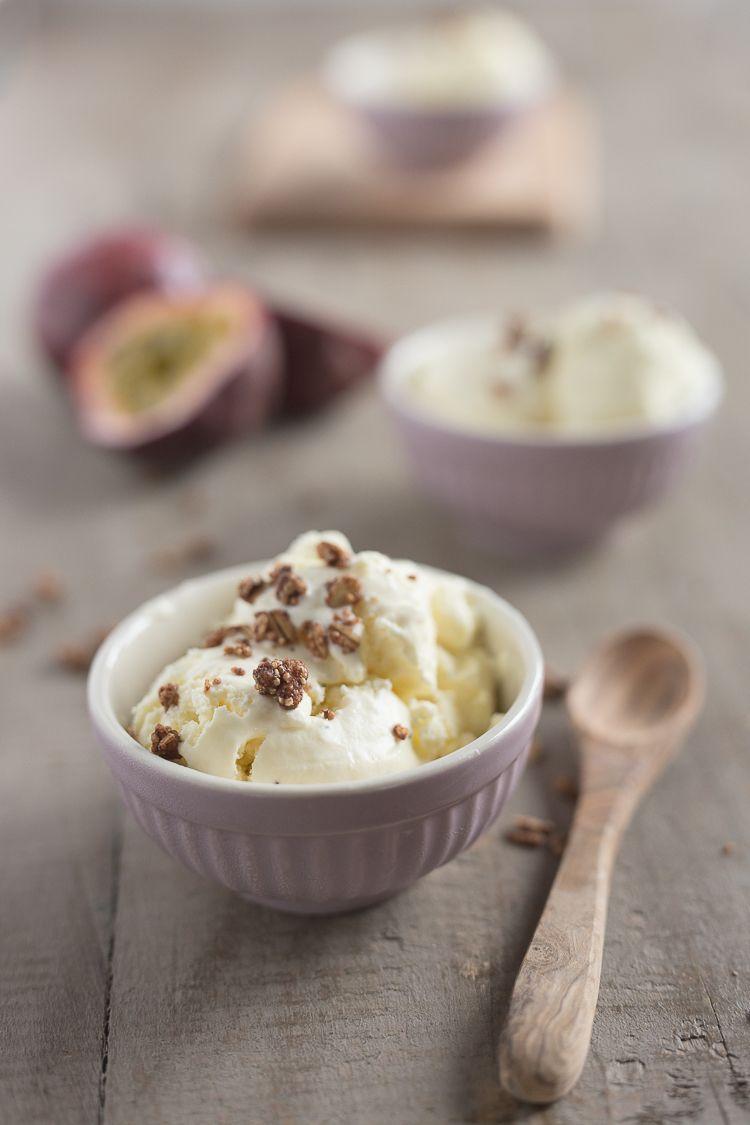 Rezept für Maracuja-Eiscreme by foodandfeelings.de
